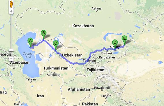 Aktau, Kazakhstan to Koktal, Kazakhstan