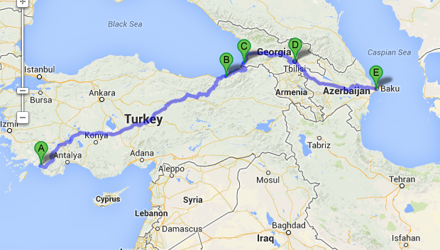 The Journey So Far Part 2 And A Route Through The Mddle East