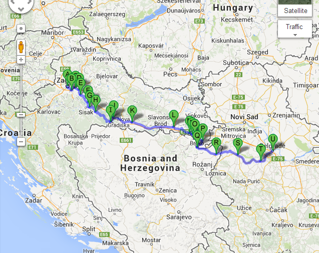 Zagreb, Croatia to Belgrade, Serbia