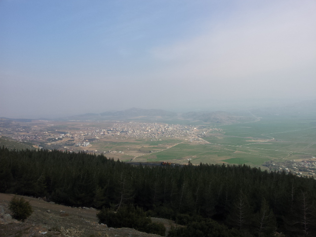 The view from the top of the first climb out of Osmaniye, overlooking Nurdagi