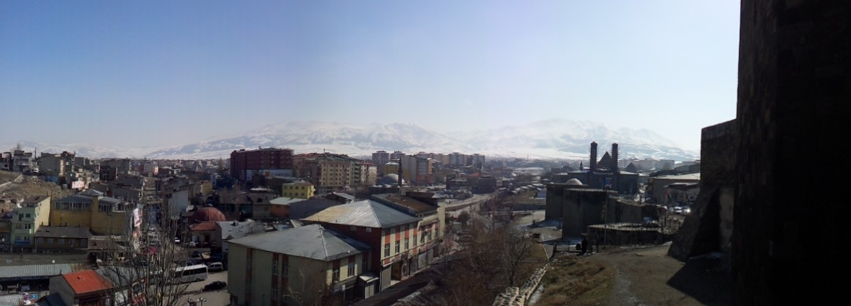 Looking across Erzurum in the opposite direction.