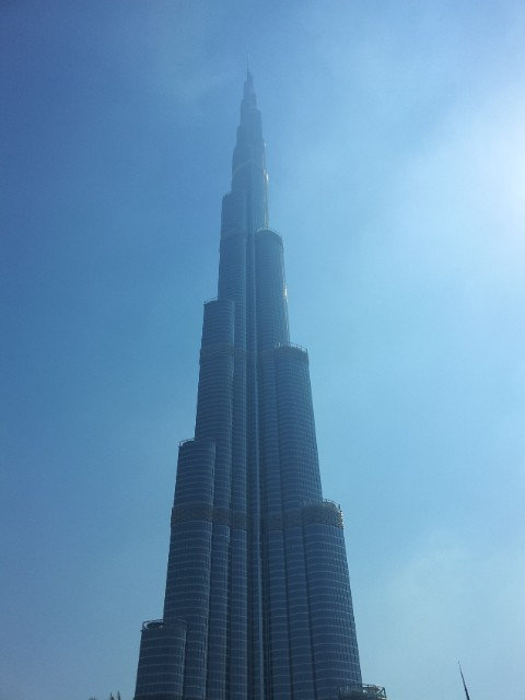 The Burj Khalifa at one kilometer tall, towers above a prestigious many.