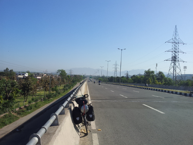 The first sign that the Himalaya's were getting closer came into view passing through Chandigarh.