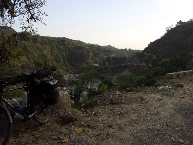 Half an hour outside of Kangra.