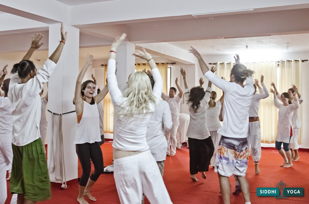 This dancing meditation was after the inhibitions had disolved and it seem perfectly natural to dance around together.
