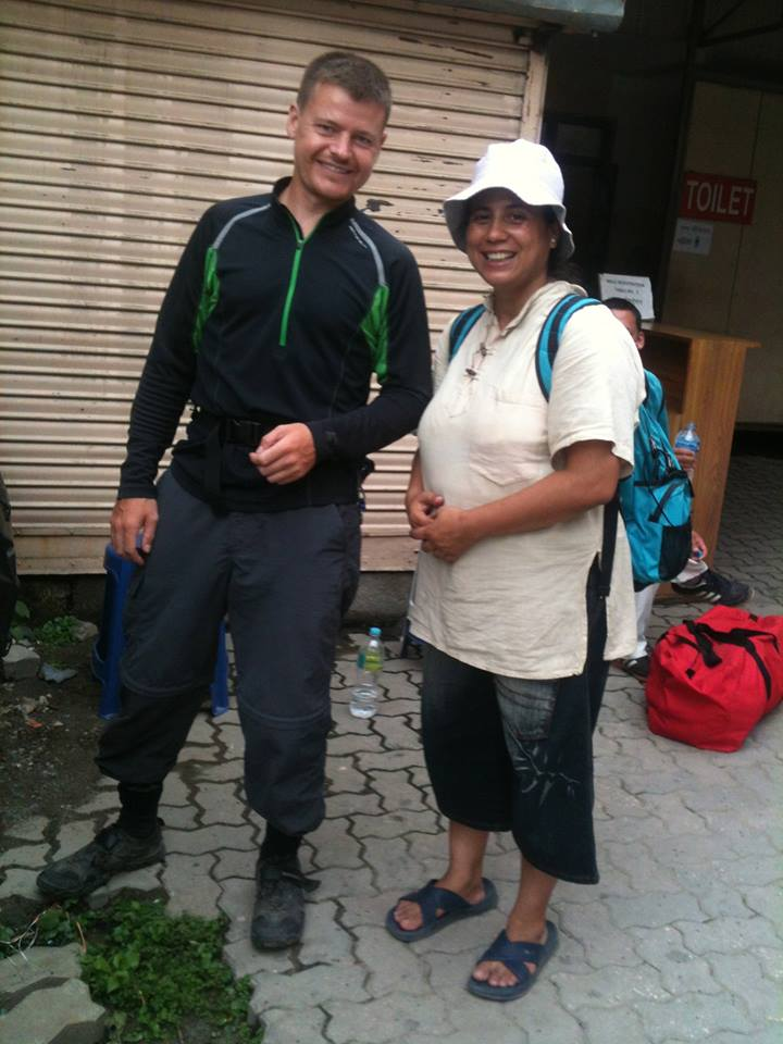 Usha and I outside the Vipassana office in Kathmandu