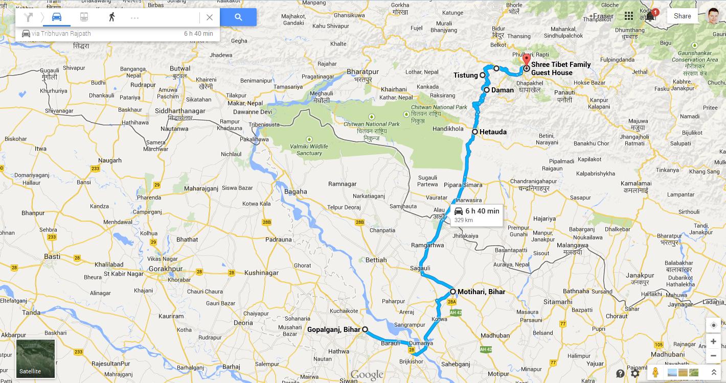 Gopalganj India to Thamel, Nepal