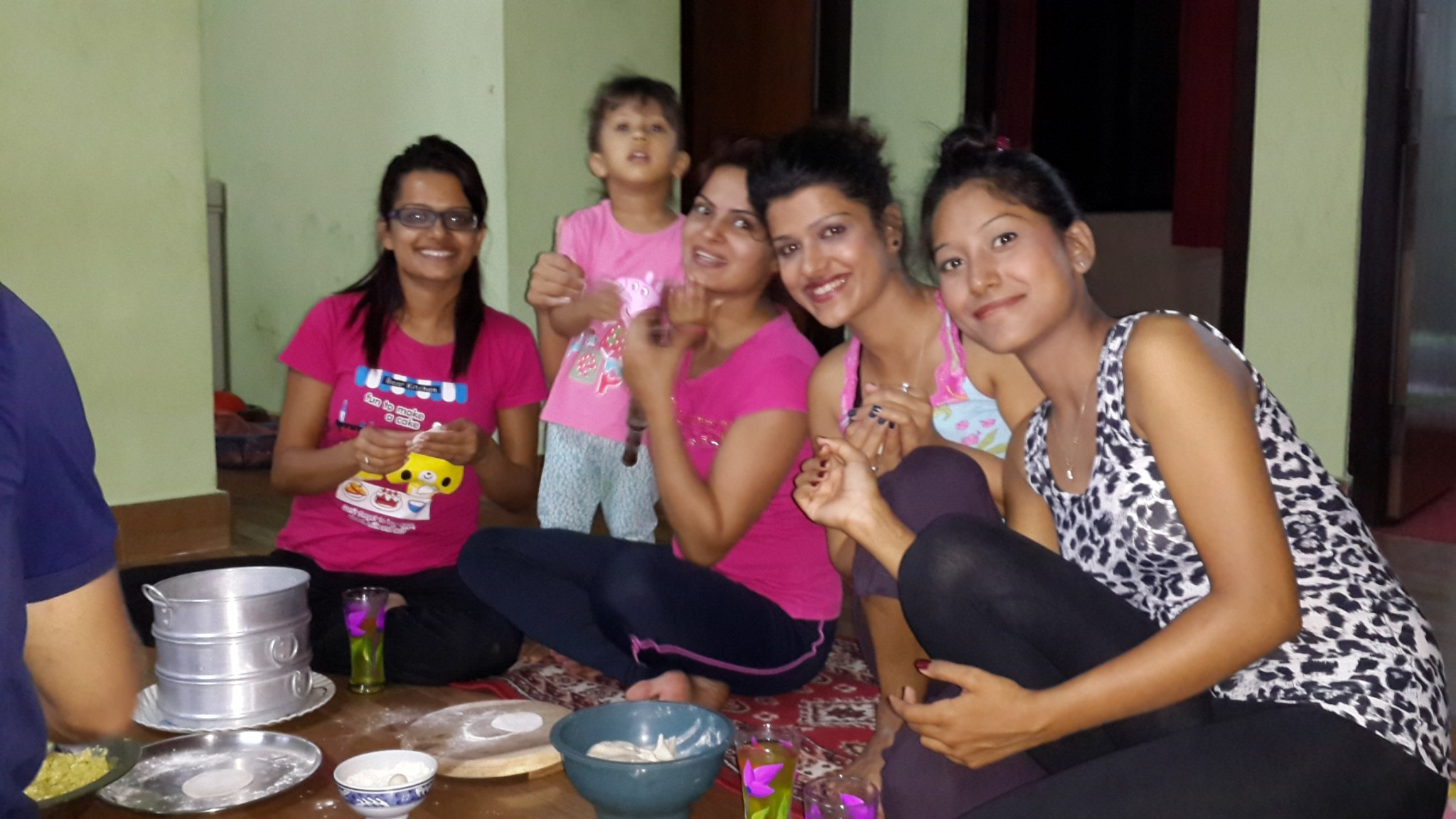 The incredibly friendly Nepali girls: Sadhana, Prasna, Shreestee and Asmita