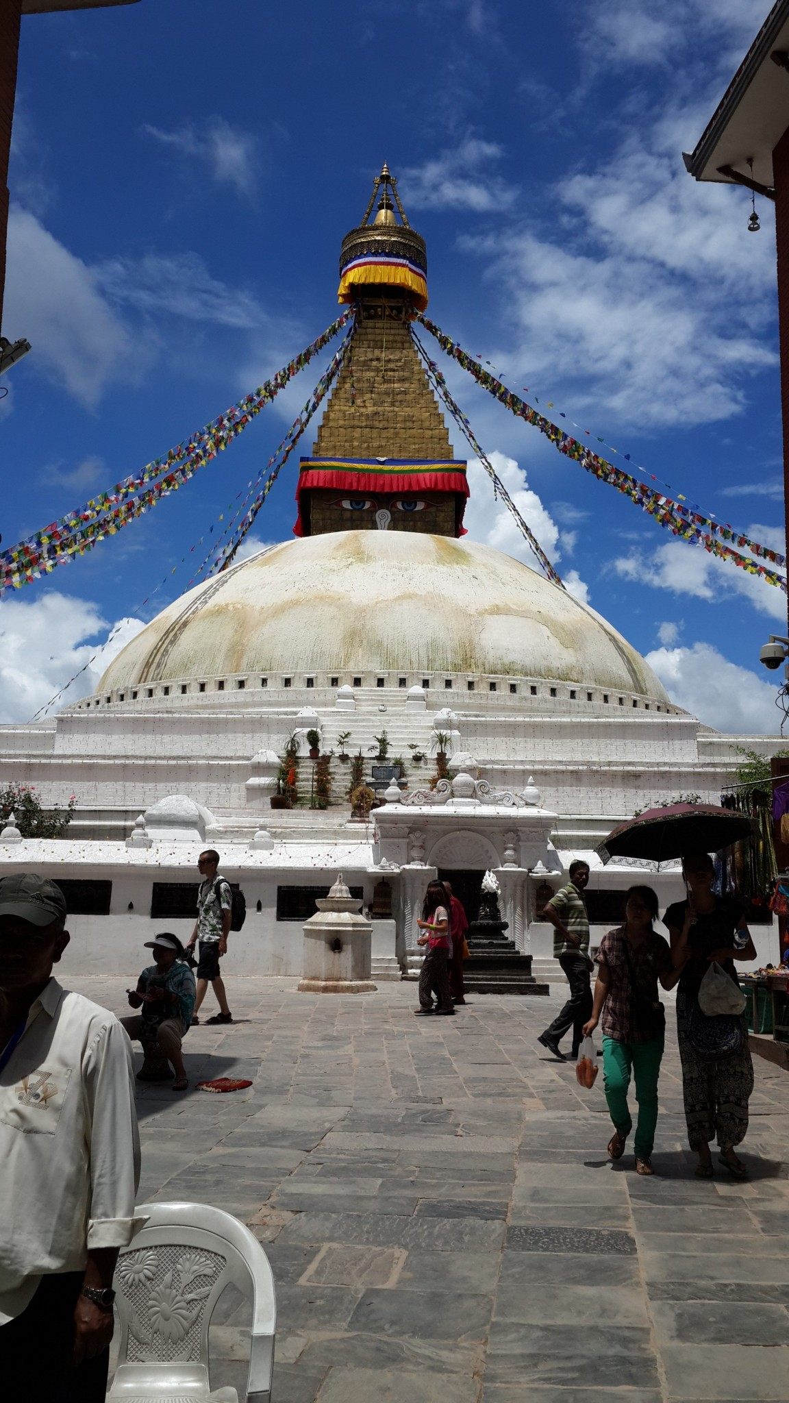 Boudhanath is a one of the largest Stupa's in the world and is UNESCO World Heritage site.
