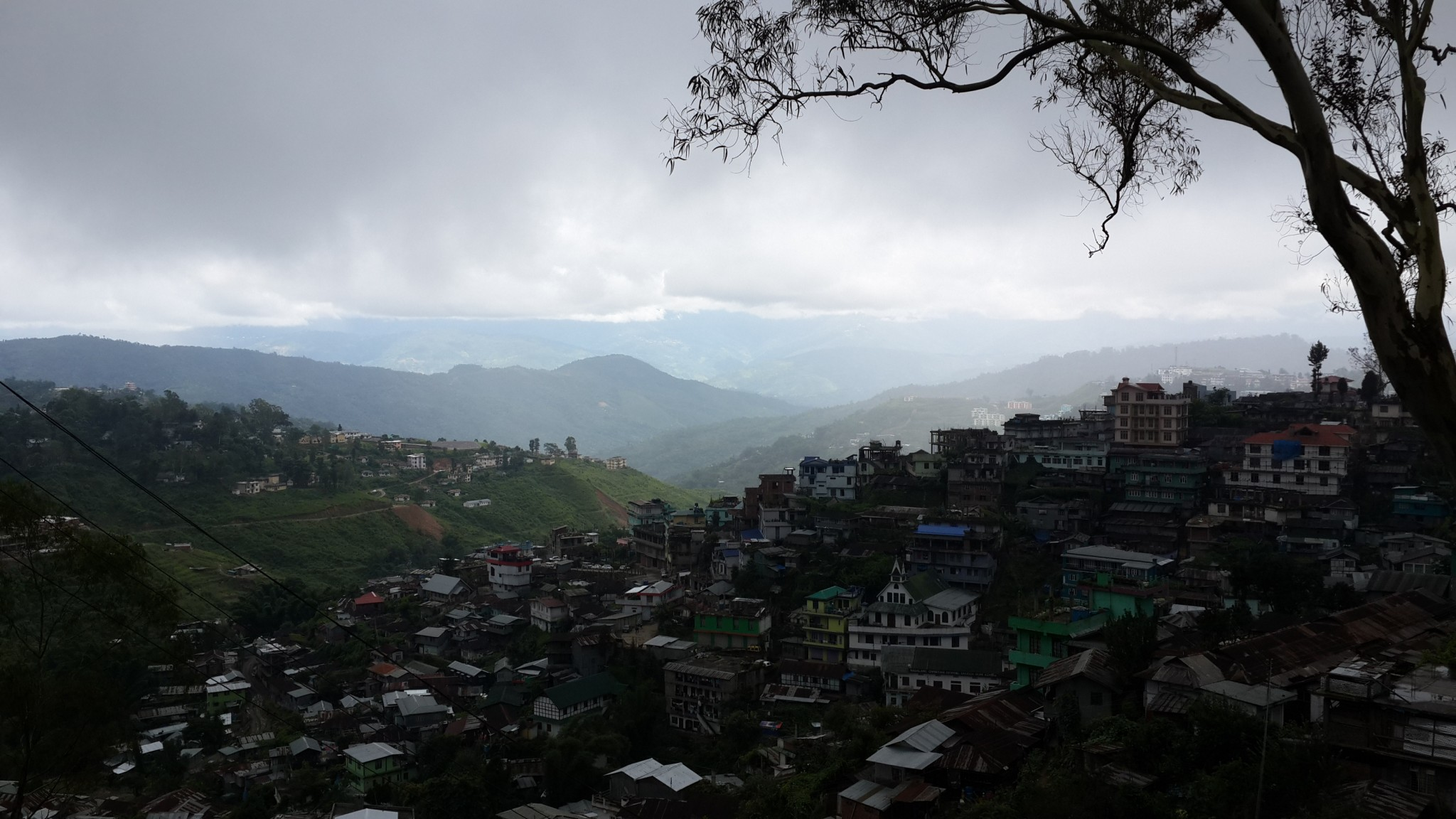 Looking out from Kohima in the morning.