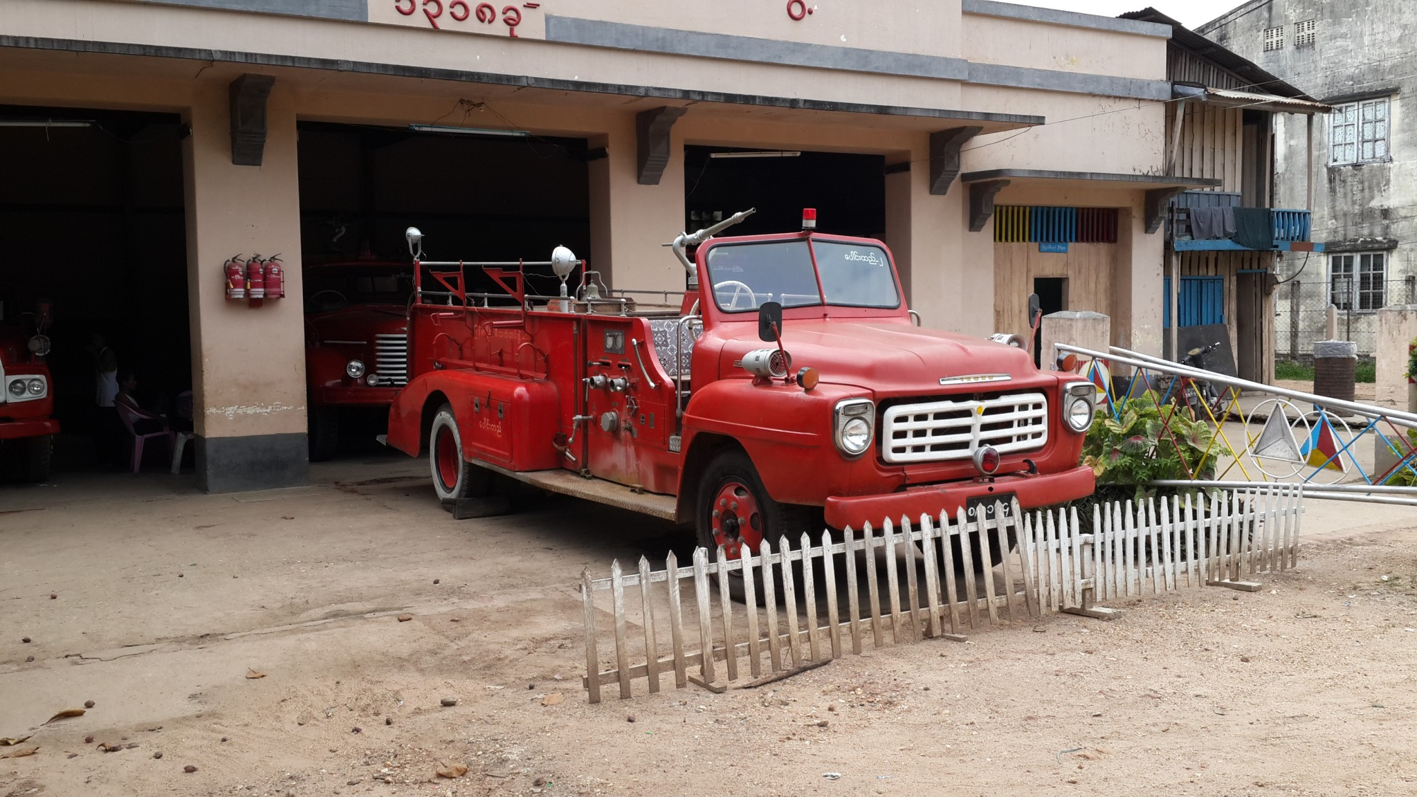 With fire engines like this I want to be a Burmese Fireman.