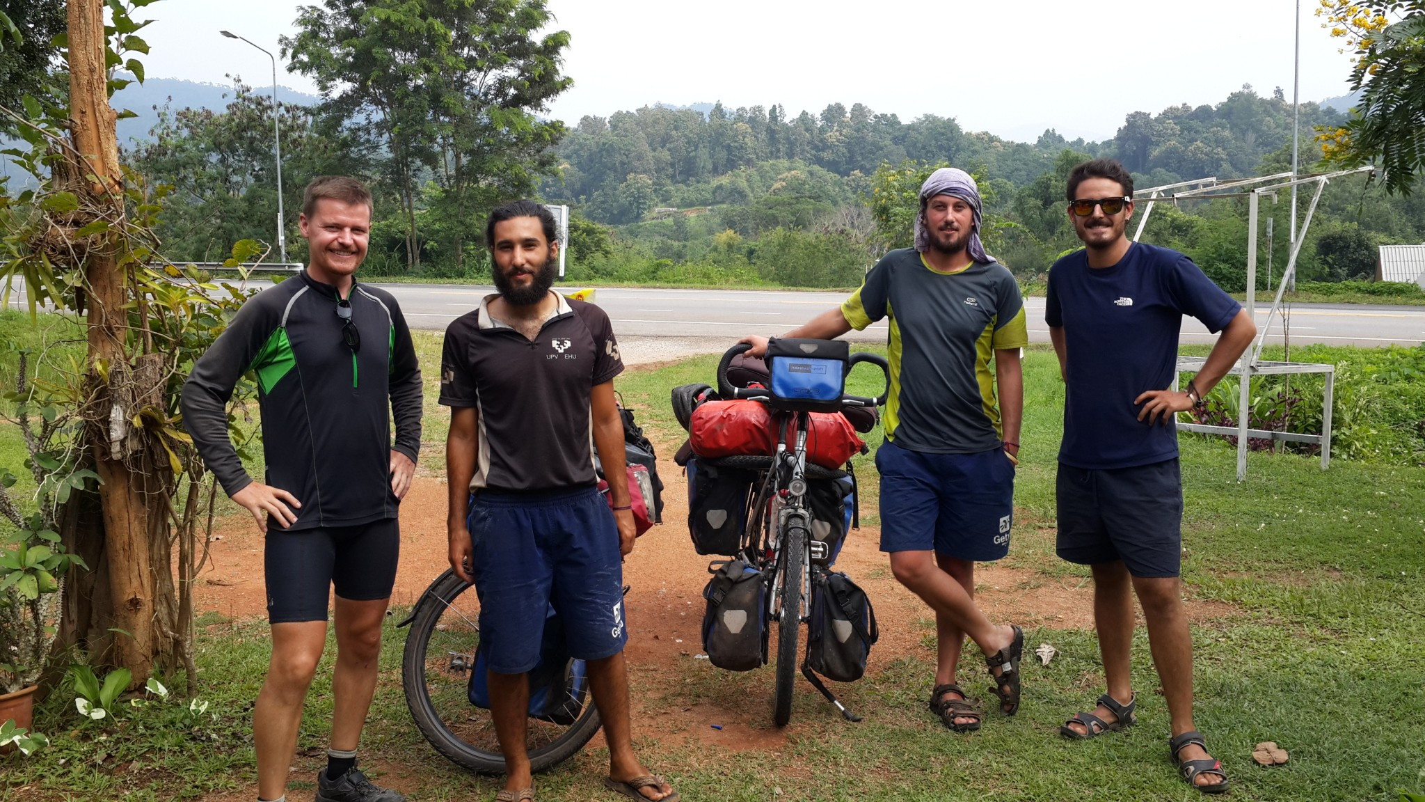 The Spanish cyclist I met between Chiang Rai and Chiang Mai.
