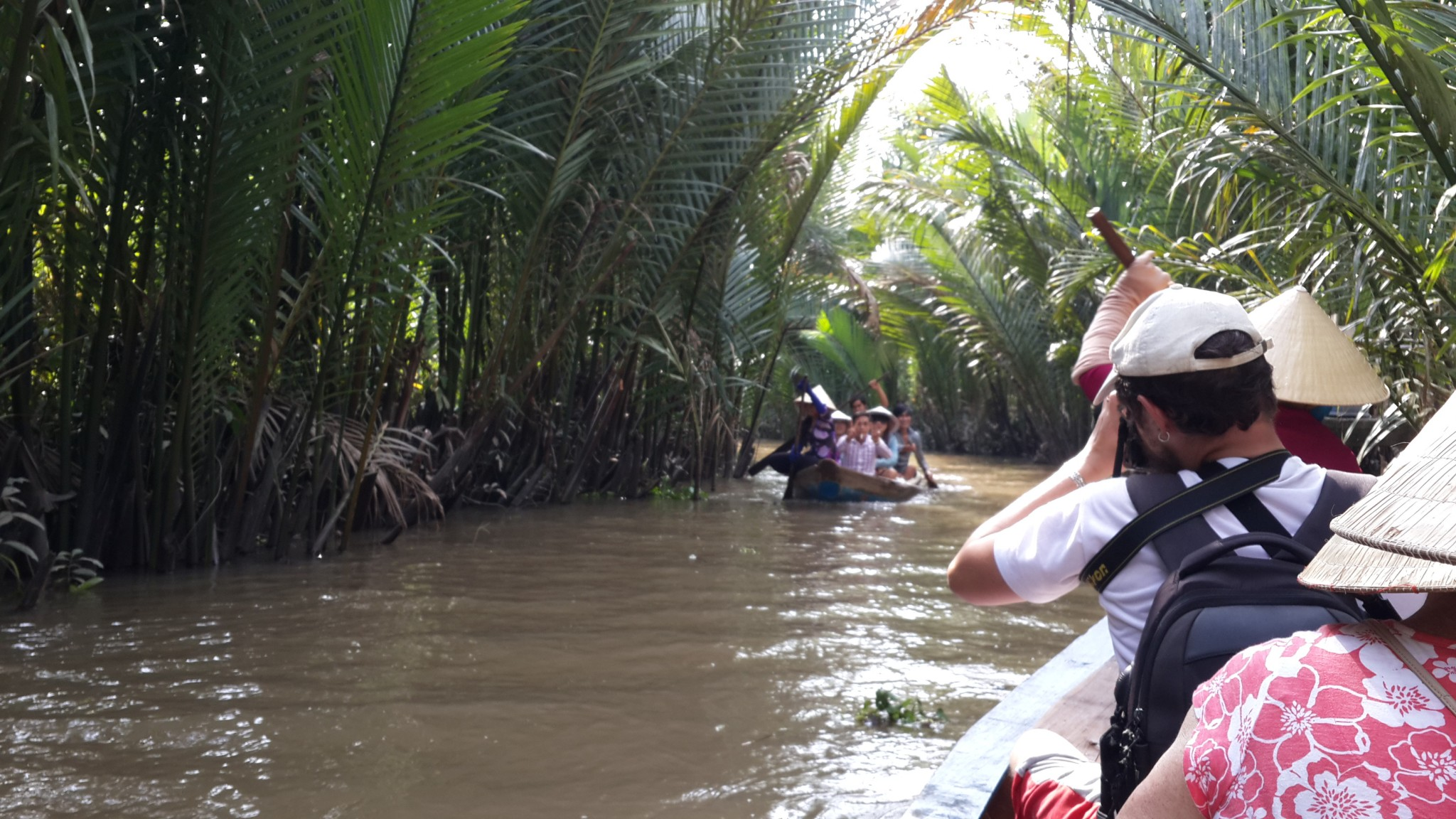 A visit to one of the many islands along the Mekong courtesy of a local paddle powered river taxi