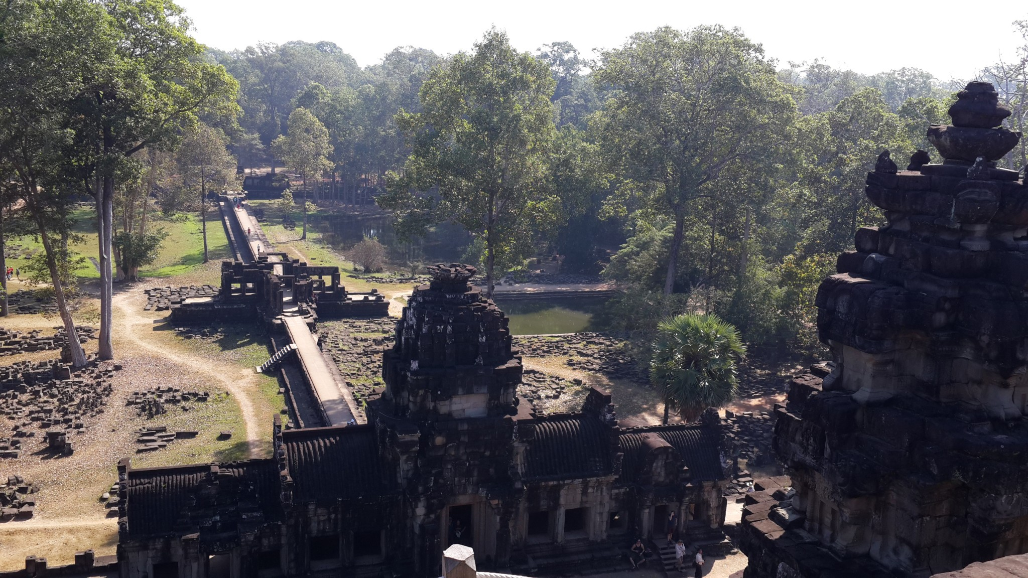 One of many vast structures of the Khmer Empire dating back to the 9th century that comprised the 400 km2 UNESCO World Heritage site, Angkor Archaeological Park.