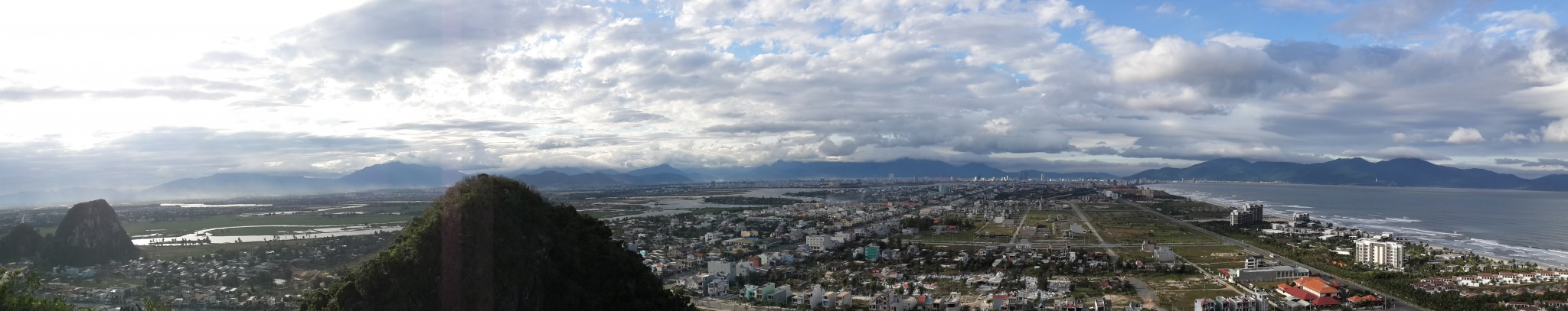 The view from the marble mountains, Da Nang