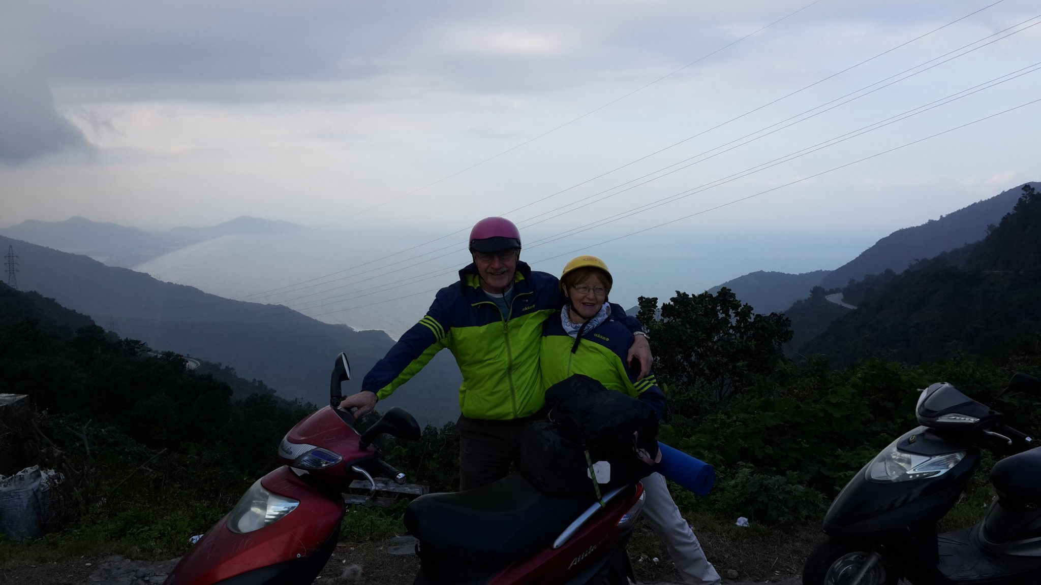The Hai Van Pass on the way home from Hue. That's right - matching jackets, which caused quite a stir with the locals who now believe that matching clothes are an interesting quirk of married couples from Scotland. Our apologies to Scotland.